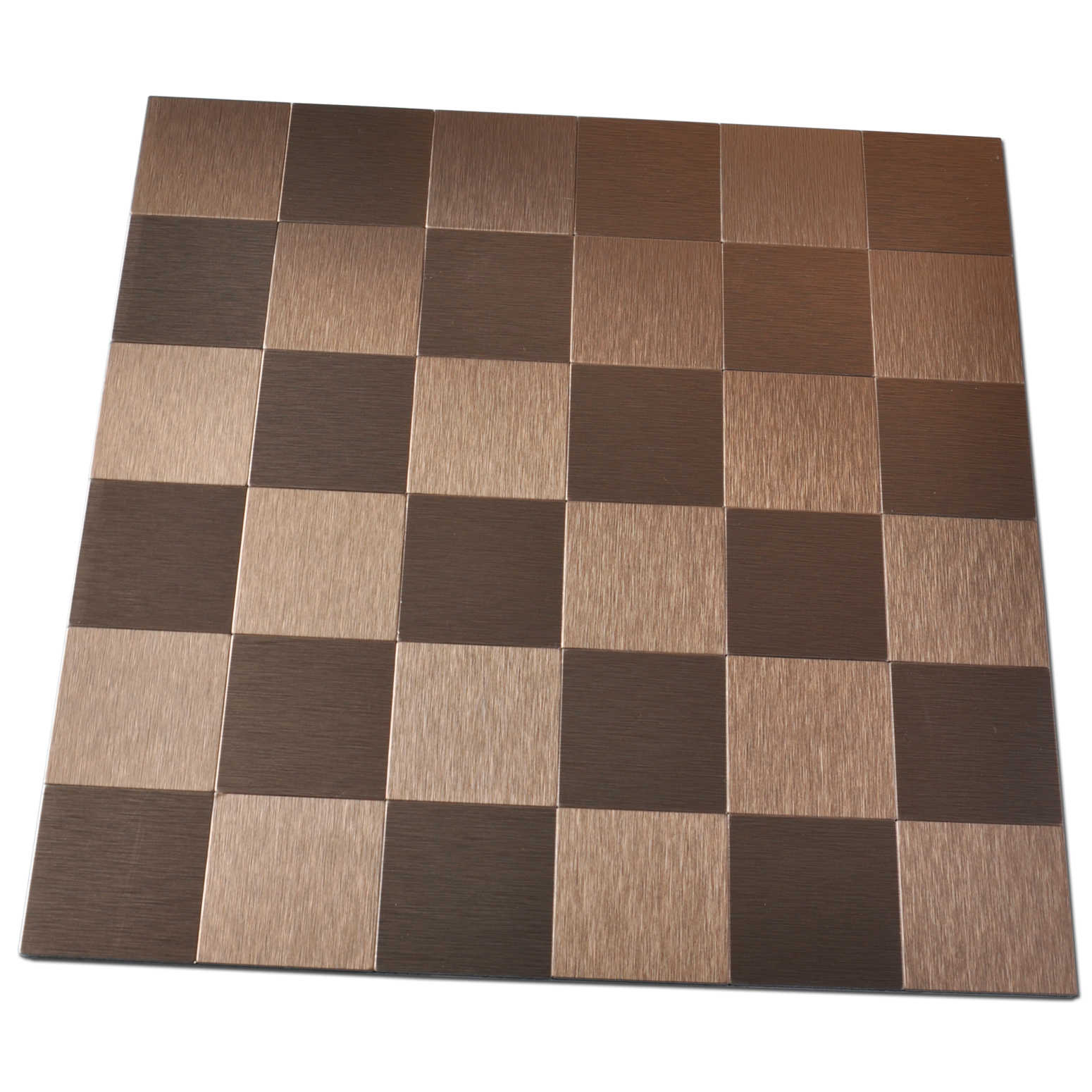 Art3d Peel and Stick Metal Backsplash Peel and Stick Kitchen Tile, 12' x 12' Copper
